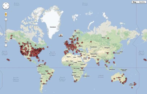 CE-5 csapatok globális térképe