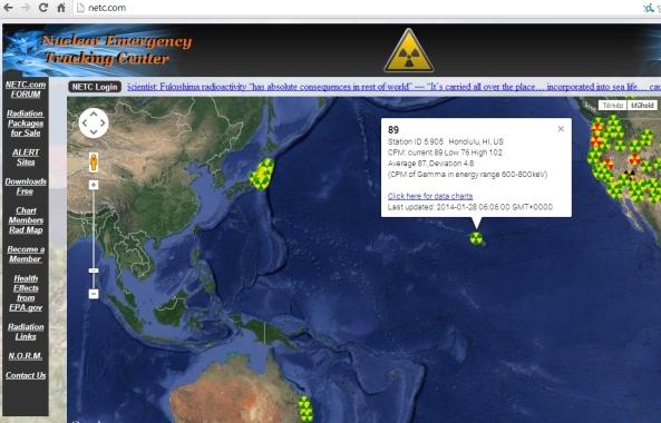 Ausztrália és Hawaii is sugárfertőzott. (kattintásra nagyítható.)