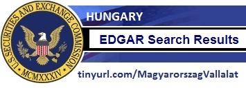 Magyarország New York-ban bejegyzett cég