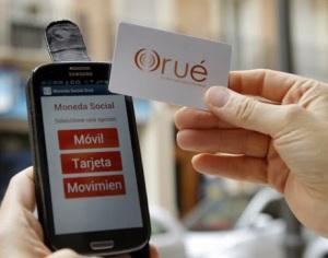Spanyol NFC-s kiegészítő pénznem, Orue - monedasocialorue.org