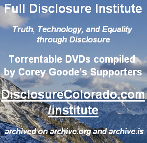 Torrentable DVDs compiled by Corey Goode's Supporters - DisclosureColorado.com/institute