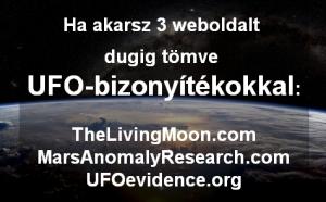 Három oldal teletömve UFO-bizonyítékokkal